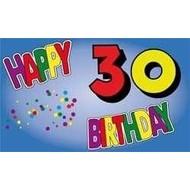 Vlag Happy 30th Birthday