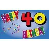 Vlag Happy 40th Birthday