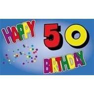 Vlag Happy 50th Birthday