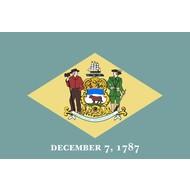 Vlag Delaware Staat vlag