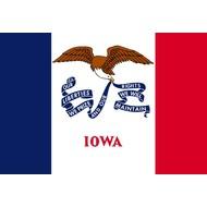 Vlag Iowa Staat vlag
