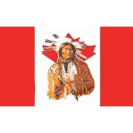 Vlag Canada Indian flag