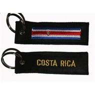 Sleutelhanger / Keyring Costa Rica vlag sleutelhanger