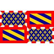 Vlag De Bourgogne Burgundy