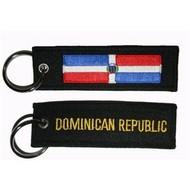 Sleutelhanger / Keyring Dominicaans Republiek vlag sleutelhanger