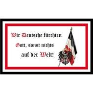 Vlag DR- Wir deutsche furchten Gott sonst nichts