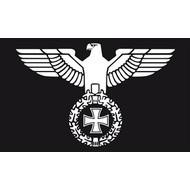 Vlag Duitse Reichsadler ge Rijks met Adelaar