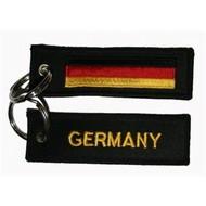 Sleutelhanger / Keyring Duitsland vlag sleutelhanger