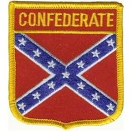 Patch Confederate vlag patch shield