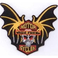 Patch Motorcycle Ride Free vlag patch