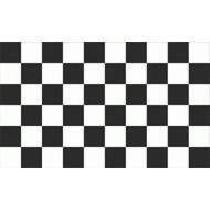 Patch Zwart Wit vlag patch chequered
