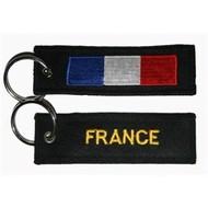 Sleutelhanger / Keyring Frankrijk France vlag sleutelhanger