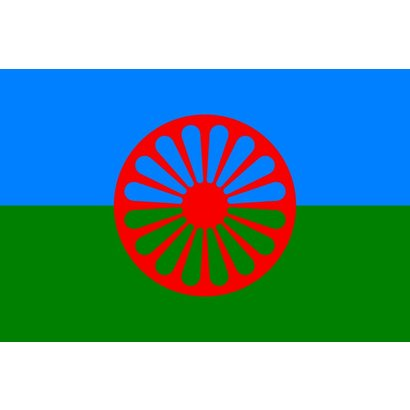 Vlag Gypsy Roma zigeuner vlag