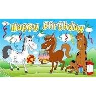 Vlag Happy Birthday Paard vlag