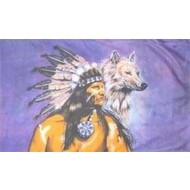 Vlag Indian met Wolf vlag