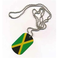 Dog Tag Jamaica vlag dog tag