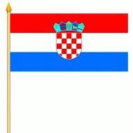 Stok- / zwaai-vlag Kroatie hand stok zwaai (6 stuks)