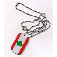 Dog Tag Libanon vlag dog tag