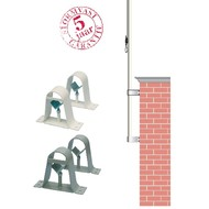 Accessoires Muurbeugelset voor mast dia 60-90mm grijs