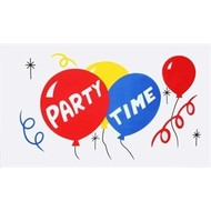 Vlag Party Time Feest