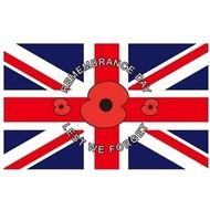 Vlag Poppy Lest We Forget Remembrance Day vlag