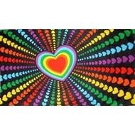 Vlag Regenboog Love Liefde vlag