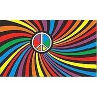 Vlag Regenboog Peace Psychedelic vlag