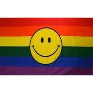 Vlag Regenboog Smiley