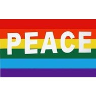 Vlag Regenboog Peace vlag