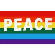 Vlag Regenboog Peace