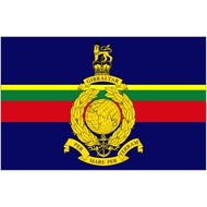 Vlag Royal Marines (By sea and by land)
