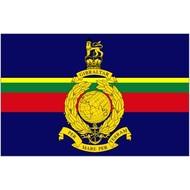 Vlag Royal Marines vlag By sea and by land