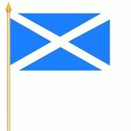 Stok- / zwaai-vlag Schotland Scotland stok St Andrew (6 stuks)