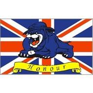 Vlag UK Union Jack Engeland Verenigde Koninkrijk met Bulldog