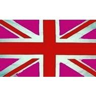 Vlag UK Union Jack Engeland Verenigde Koninkrijk Pink Roze vlag