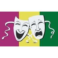 Vlag Comedy Tradegy theater flag