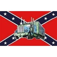 Vlag Confederate flag with Truck