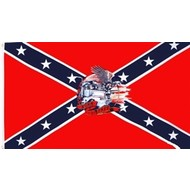 Vlag Confederate Born to be Free flag