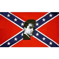 Vlag Confederate Elvis vlag