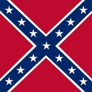 Stok- / zwaai-vlag Confederate Stick
