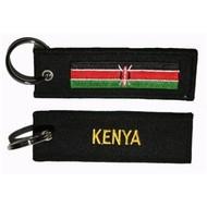 Sleutelhanger / Keyring Kenia vlag sleutelhanger