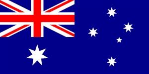 Australia en Stille Oceaan vlaggen