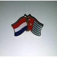 Speldje Nederland Morgenster Vriendschapsvlag speldje