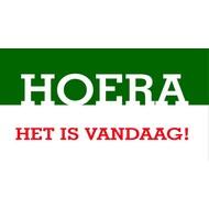 Vlag Hoera, het is vandaag!