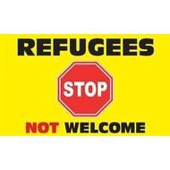 Vlag Refugees Not Welcome vlag