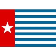 Vlag AANBIEDING Morgenster vlag west Papua