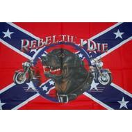Vlag Confederates Rebel Til I Die vlag