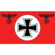 Vlag Deutschland Red with Iron Cross
