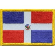 Patch Dominican Republic flag patch