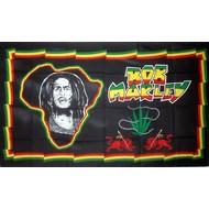 Vlag Bob Marley Afrika vlag
